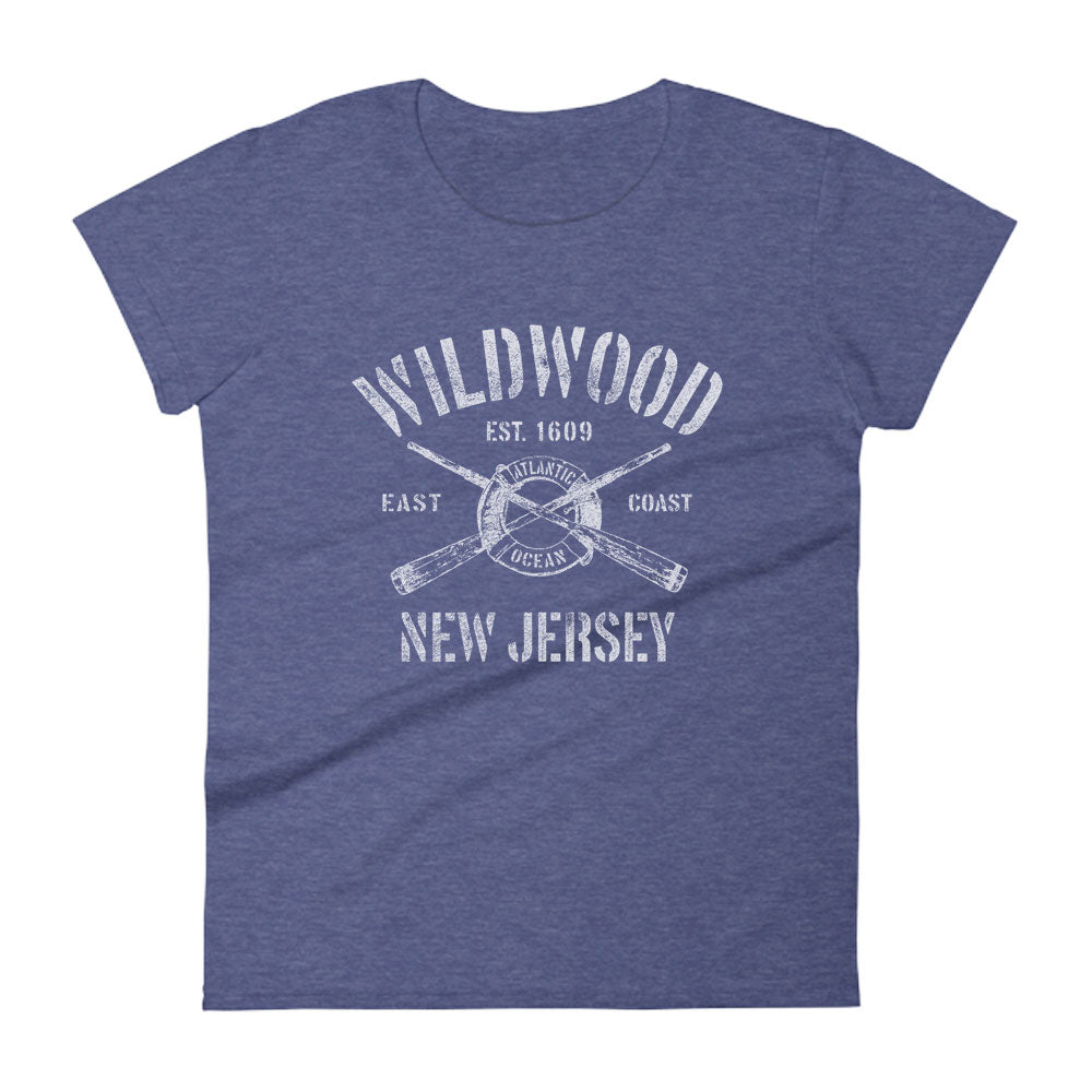 Wildwood New Jersey NJ Women's Fashion Fit T-Shirt Nautical Boating Design