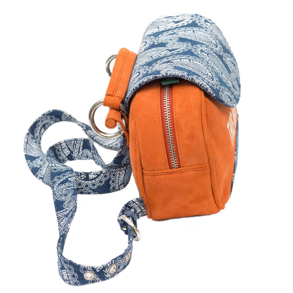 stylish orange backpack for women