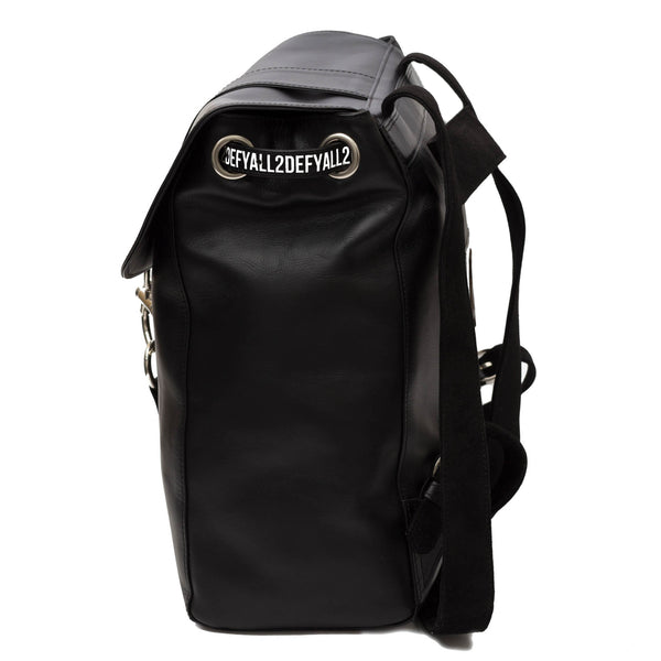 casual black leather backpack for women