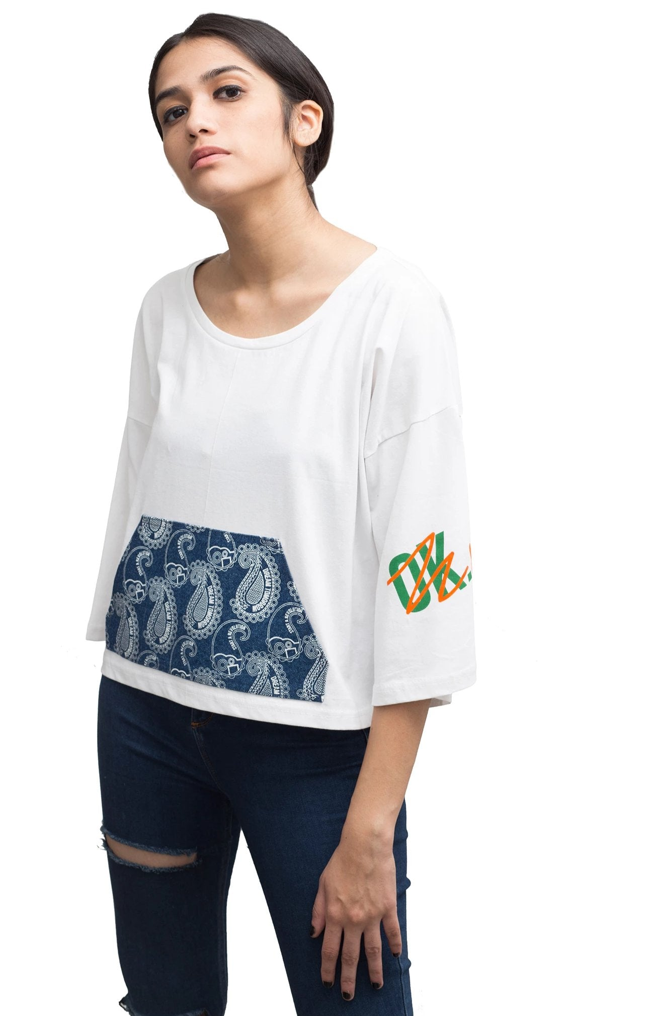 100% Cotton graphic t-shirt with ok nope print