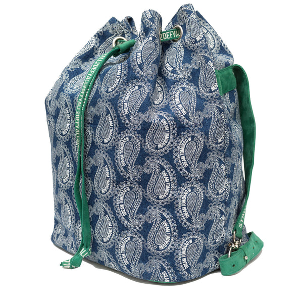printed designer backpack with drawstring