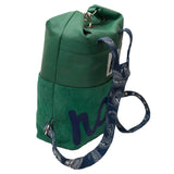 green leather backpack for women