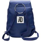 Blue travel backpack for women