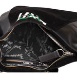 stylish black leather bag