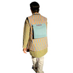 Triangular Kurta with Reversible Bundi Jacket