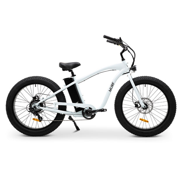 Fat Murf™ Beach Cruiser E-Bike - White | Murf Bikes