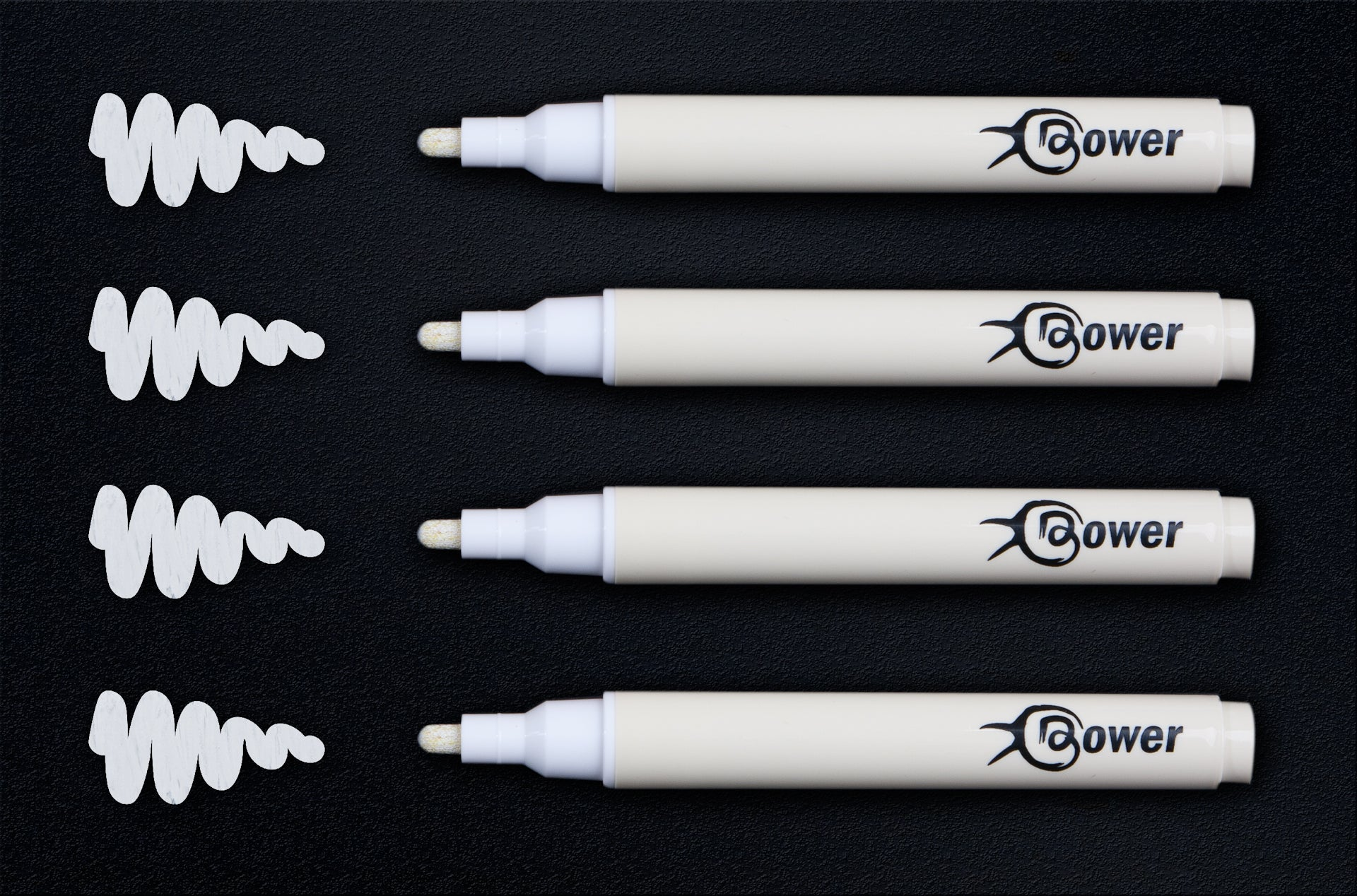 4 BRIGHT WHITE LIQUID CHALK MARKER PENS