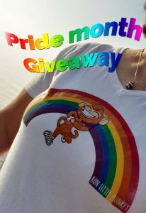 Run Little Monkey Rainbow Runner pride giveaway