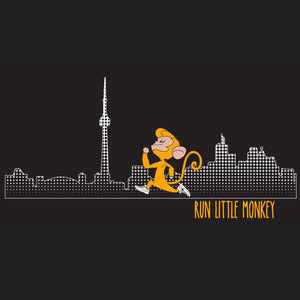run little monkey bamboo running shirt toronto skyline