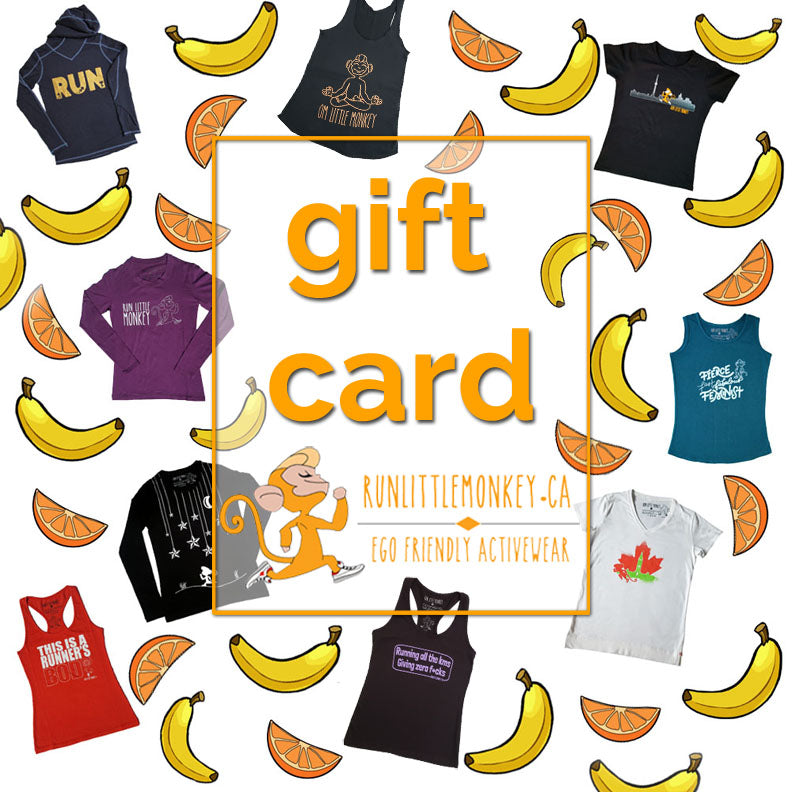 Gift Card-Run Little Monkey