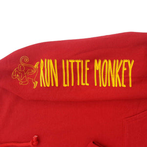 run little monkey bamboo hoodie red