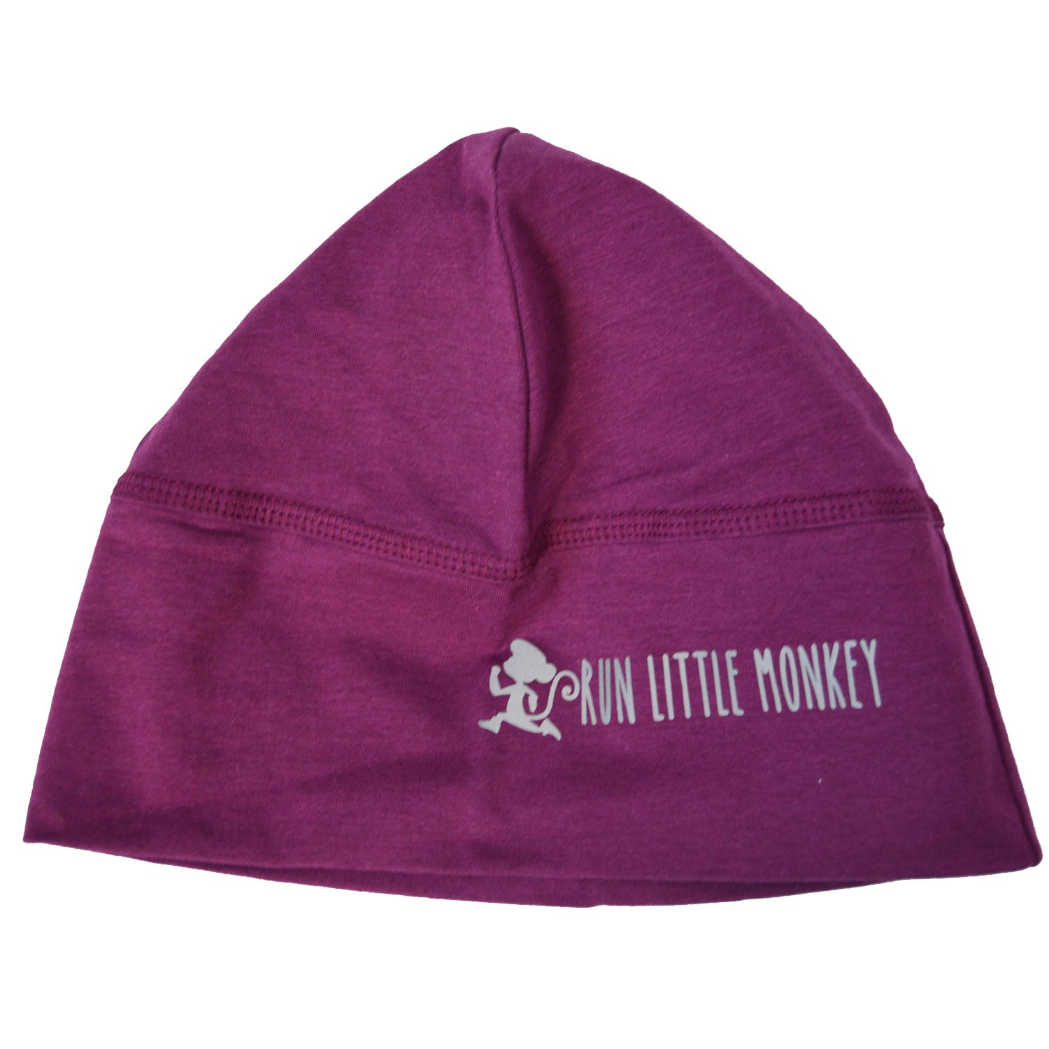 Run Little Monkey bamboo toque with pony tail hole