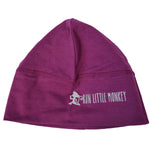 Load image into Gallery viewer, Run Little Monkey bamboo toque with pony tail hole
