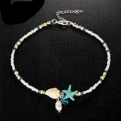 SHELL ANKLET BEADS - STARFISH