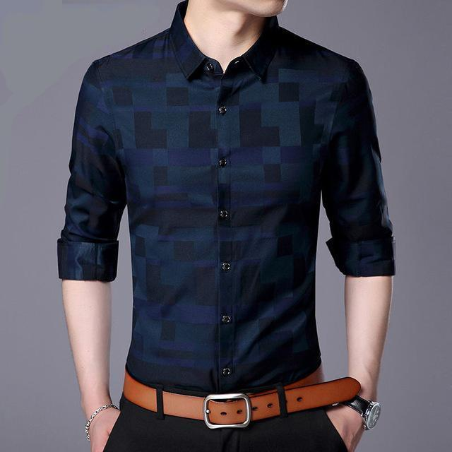MEN'S BUSINESS CASUAL LONG-SLEEVE SHIRT