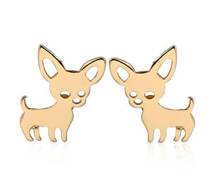 TINY CUTE CHIHUAHUA EARRINGS