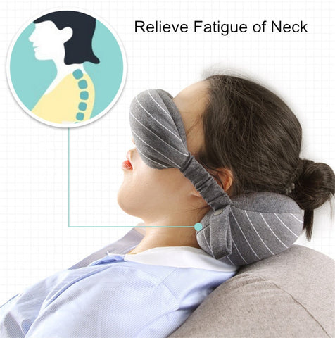 Travel Comfortably with this Multi-function Neck Pillow and Eye Mask
