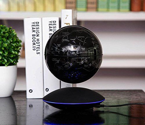 "6"" Magnetic Levitation Floating Colorful Globe with Stars LED Night Lights"