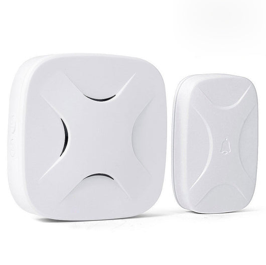 Wireless Waterproof Cross Doorbell / Panic Button, H3 Series, 52 Chimes, White - 1,000 Ft Range