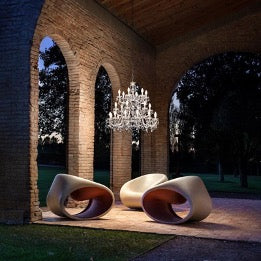DRYLIGHT IP65 Outdoor CHANDELIER by MASIERO at Luxury Lighting Boutique