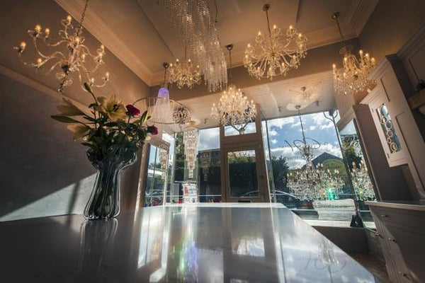 luxury lighting boutique crystal chandelier shop