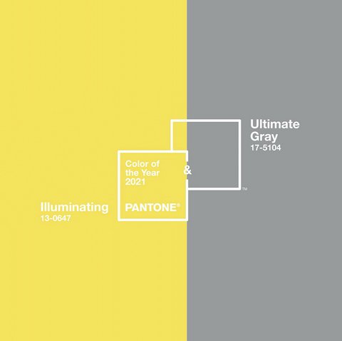 Pantone's colours of the year 2021 - yellow and grey