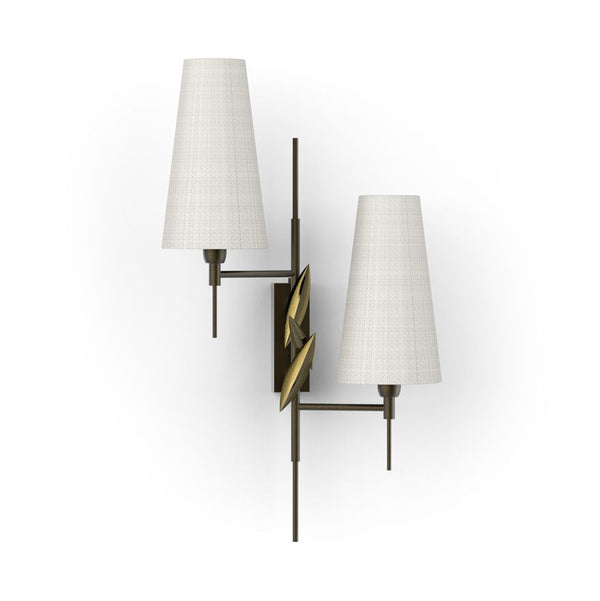 Leaf Fall Double Wall Sconce - Villa Lumi