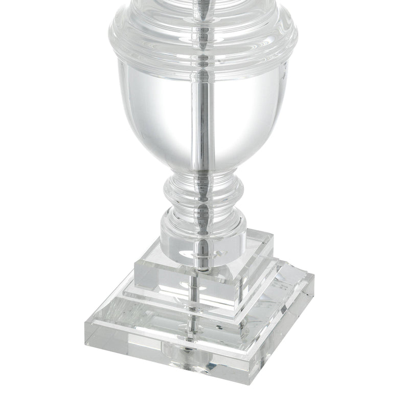 Noble Crystal Glass/Nickel Table Lamp - Eichholtz