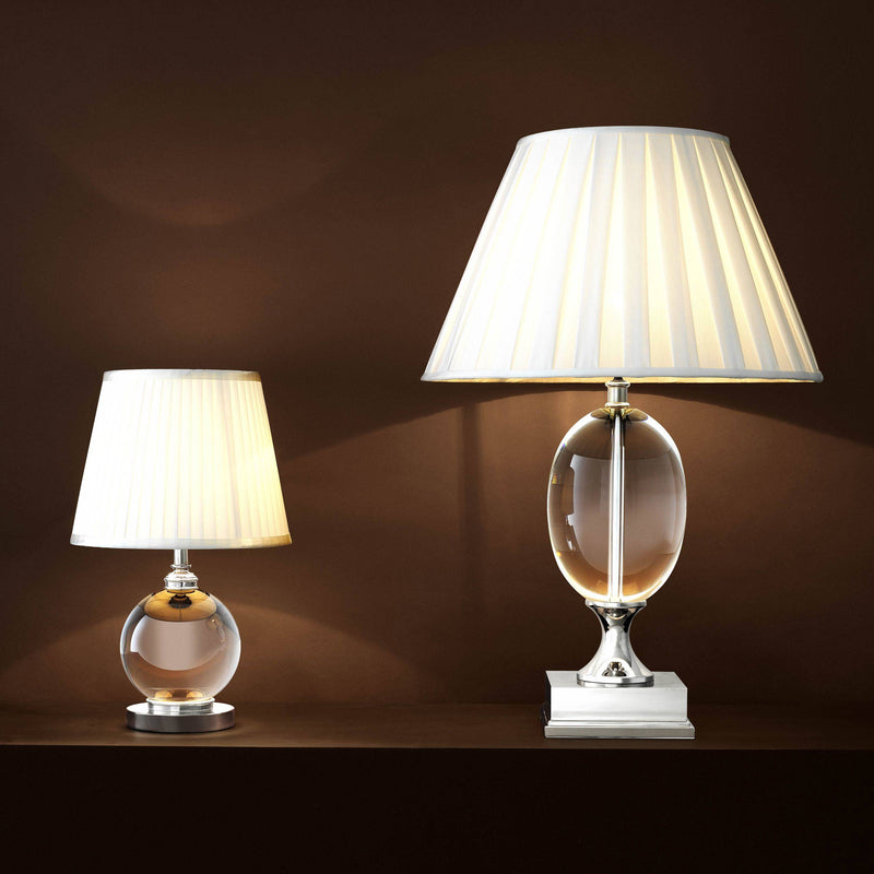 Galvin Crystal Table Lamp - [Nickel] - Eichholtz