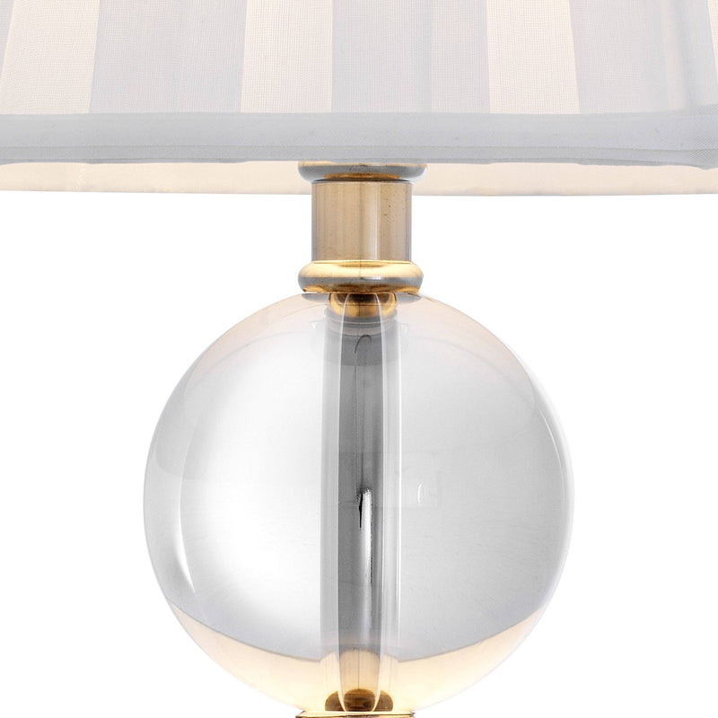 Lombard Table Lamp - [Crystal&Nickel] - Eichholtz