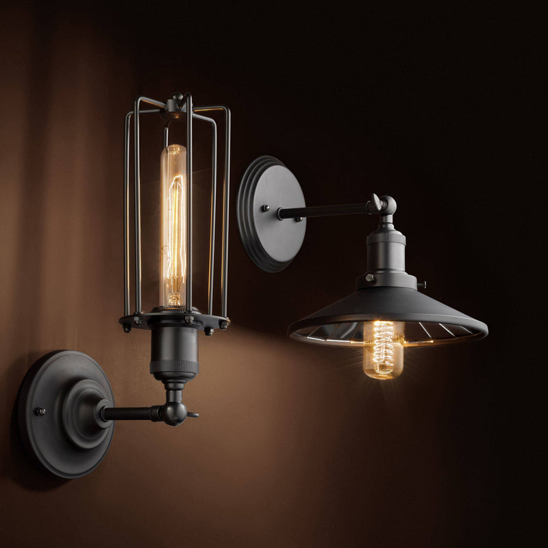 Hearst Gunmetal Wall Lamp - Eichholtz