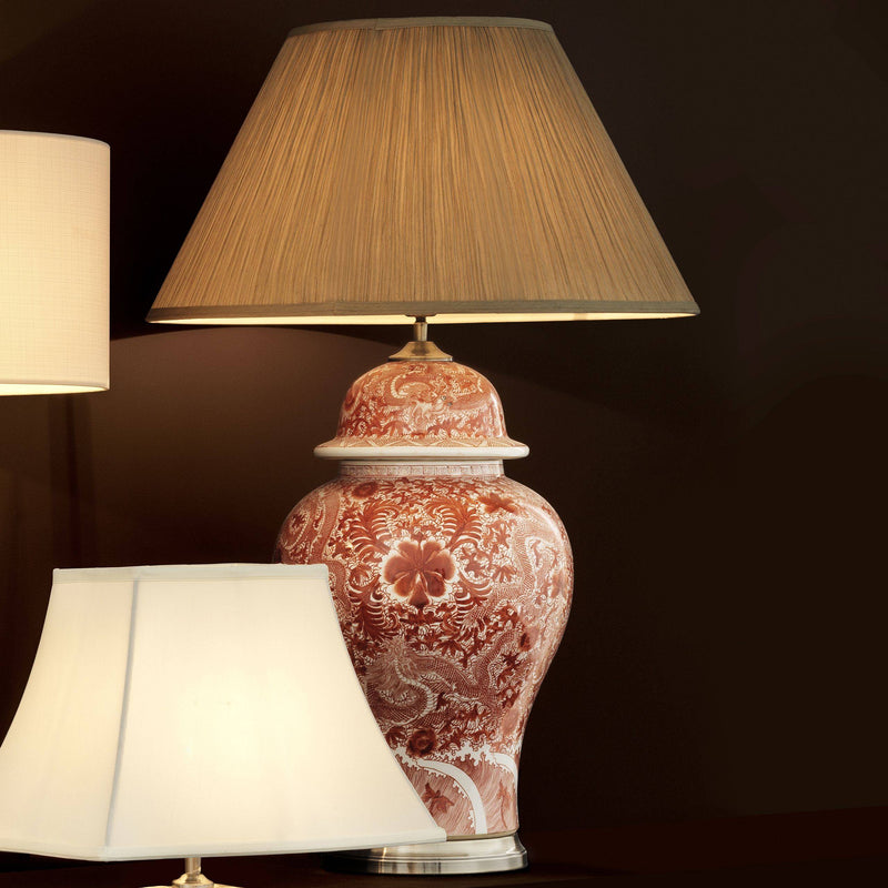 Palmarito Porcelain Table Lamp - [Red] - Eichholtz
