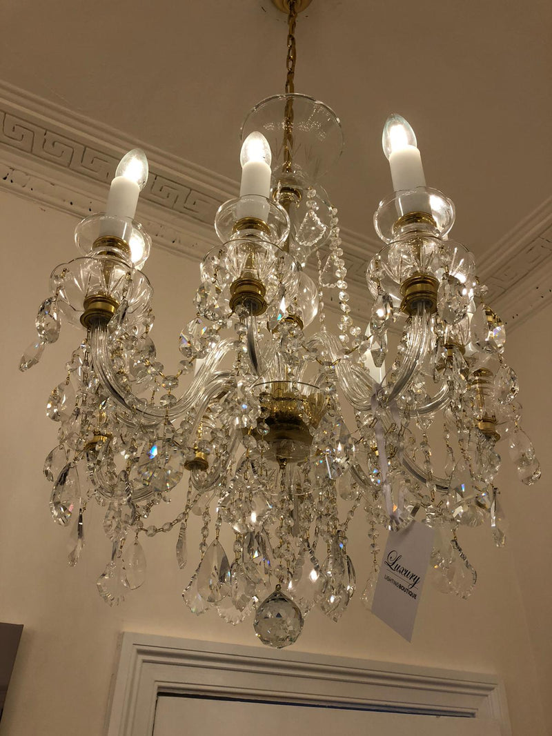 10 Light Crystal Chandelier - Traditional - Showroom Ex-Display