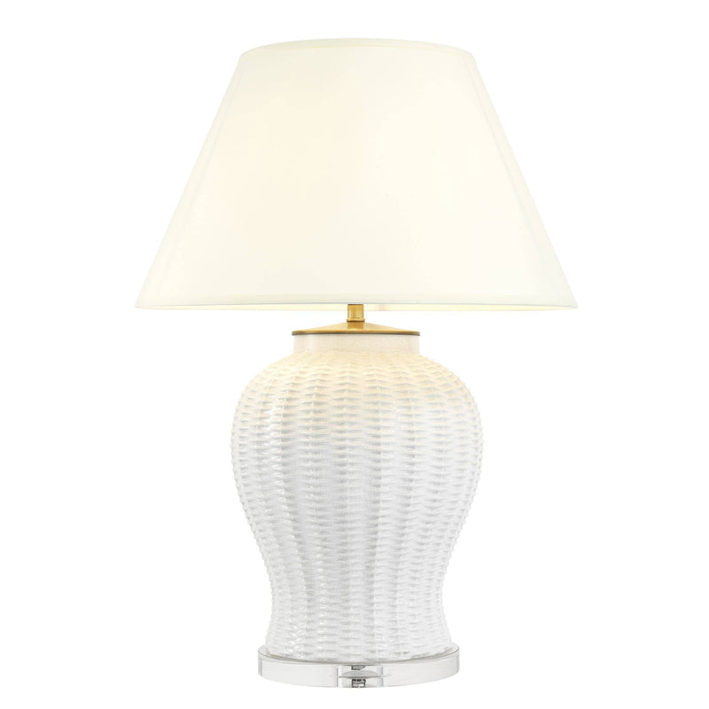 Fort Meyers Ceramic Table Lamp - [White] - Eichholtz