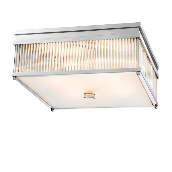 Cornwall Flush Ceiling Light - [Nickel] - Eichholtz