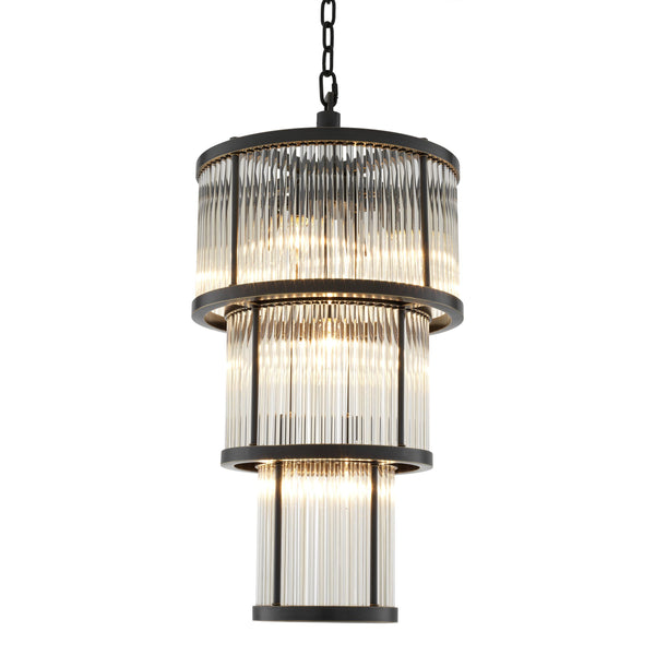 Avery Bronze/Nickel Chandeliers - Eichholtz