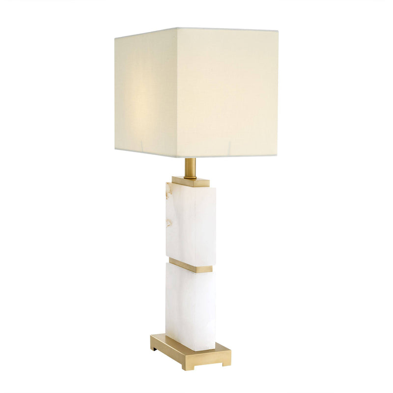 Robbins Alabaster/Brass Table Lamp - Eichholtz