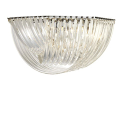 Hyères Flush Mount Nickel Ceiling Light - Eichholtz