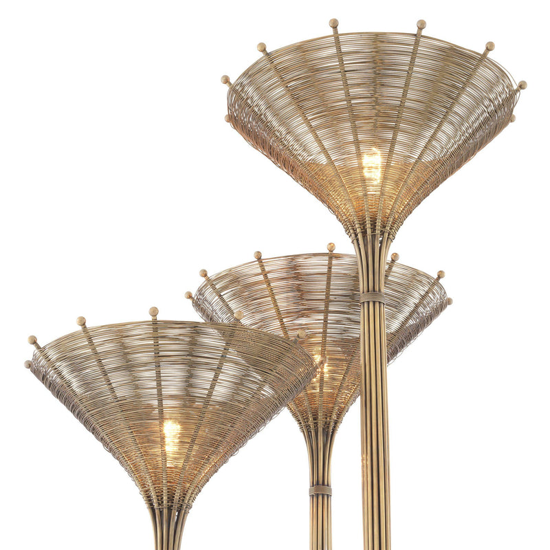 Kon Tiki Triple Floor Lamp - [Brass] - Eichholtz