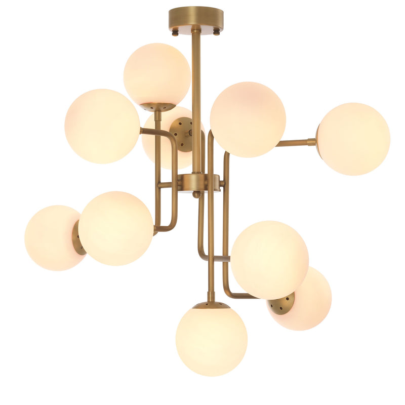 Chase Antique Brass Chandelier - Eichholtz