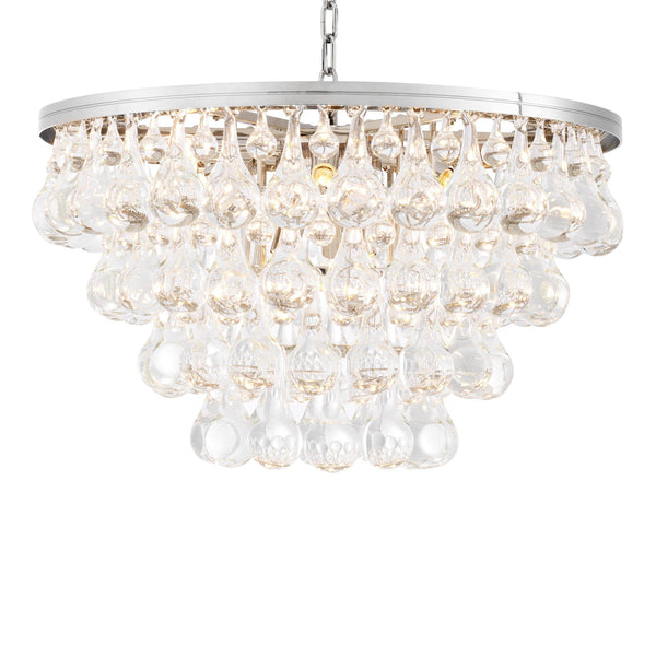 Bolzano Glass Chandelier - [Nickel] - Eichholtz