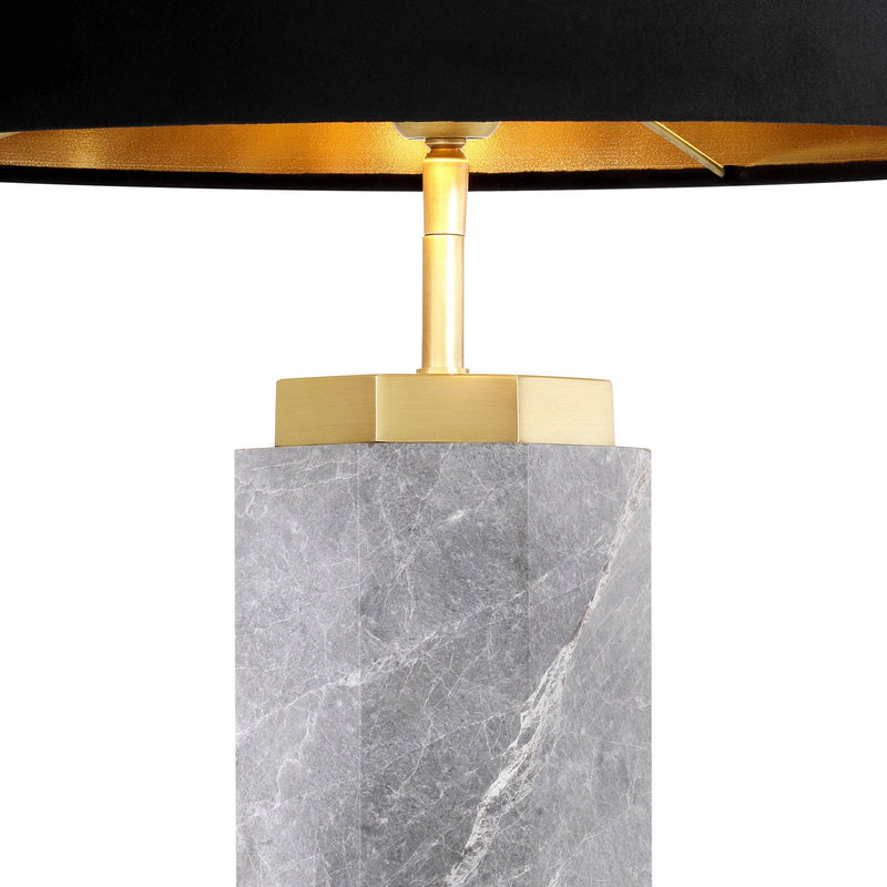 Newman Grey Marble Table Lamp - [Brass] - Eichholtz