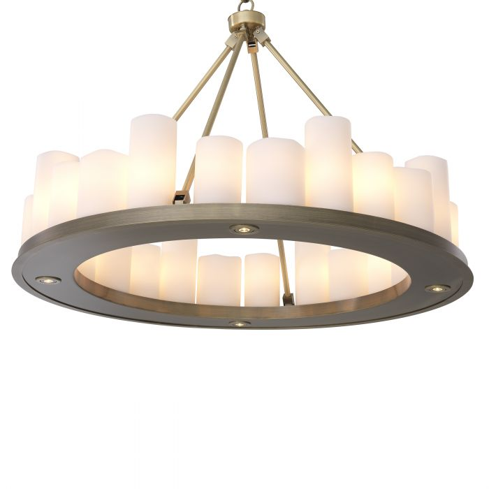 Commodore Ring Chandeliers - [Black/Brass] - Eichholtz