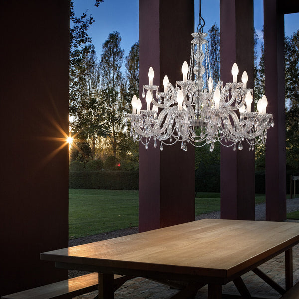 Outdoor & Bathroom Rated 18 Light Chandelier - Masiero Drylight S18-Luxury Lighting Boutique