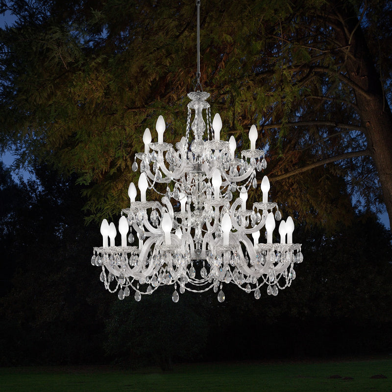 Outdoor & Bathroom Rated 24 Light Chandelier - Masiero Drylight S24-Luxury Lighting Boutique