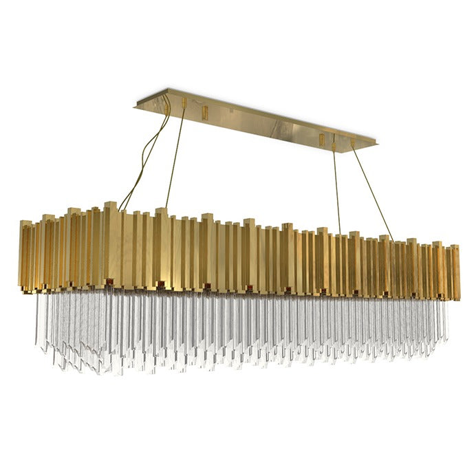 18 Light Empire Square Snooker Chandelier - Luxxu