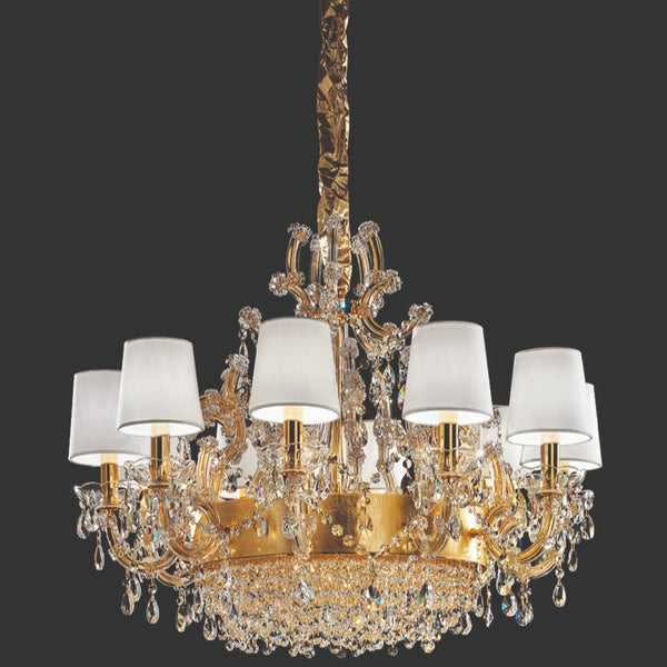 13 Light Maria Theresa Chandelier - Masiero VE 923/13 MT-Luxury Lighting Boutique