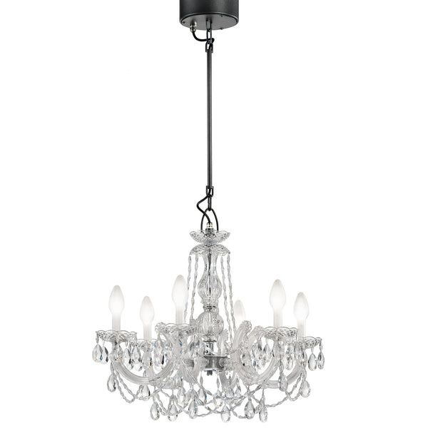 Outdoor & Bathroom Rated 6 Light Chandelier - Masiero Drylight S6-Luxury Lighting Boutique