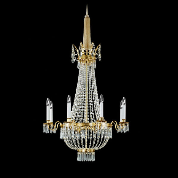 Wiener G'rüstl 12 Light Chandelier - Lobmeyr