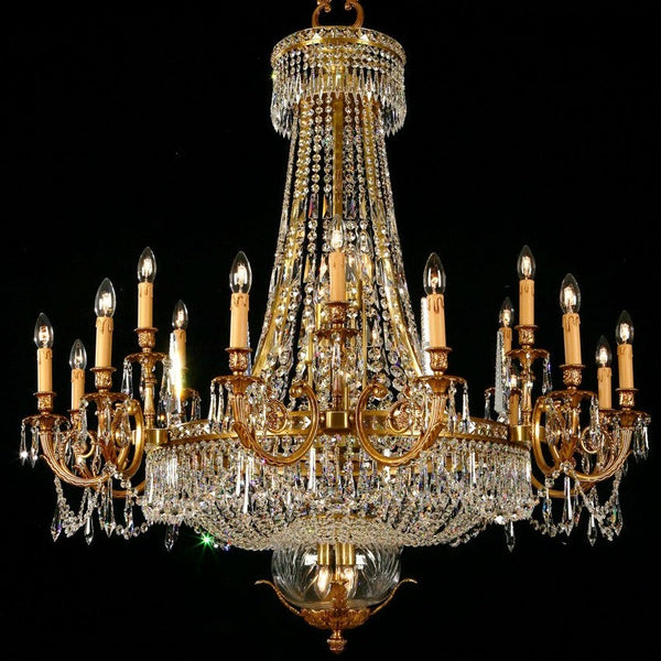 Martinez Y Orts - Strass Crystal & Brass Chandelier